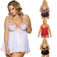 PLUS SIZE S 6XL Wholesale Womens Sexy LingerieSleepwear Babydoll Underwear Robe