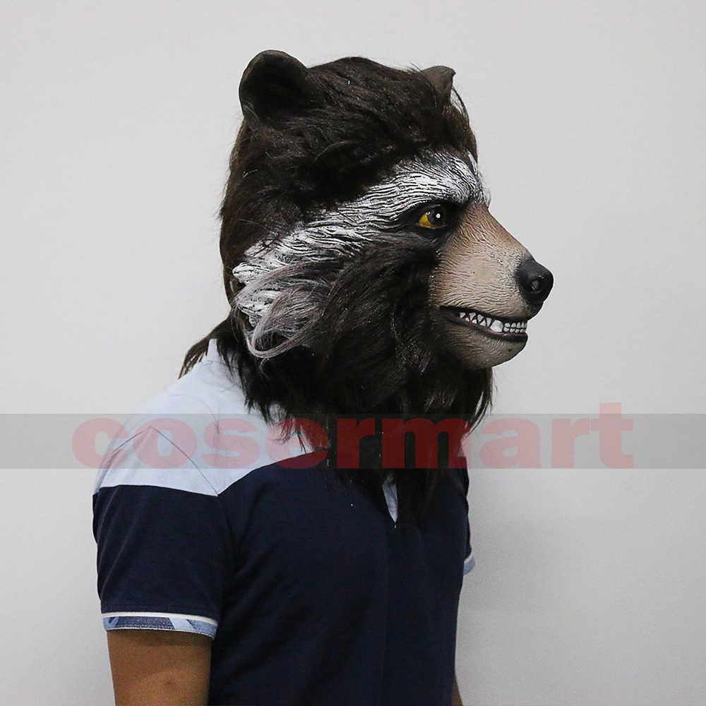 Penjaga Galaxy 2 Groot Rocket Raccoon Masker Film Superhero Marvel Peter Quill Helm Cosplay Masker Halloween Party Prop