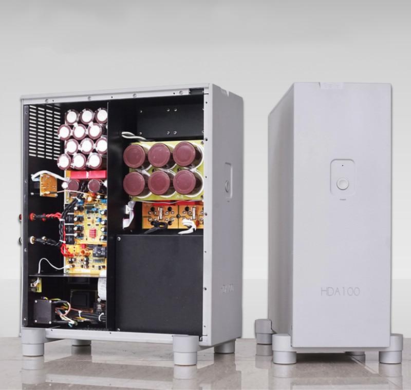 HDA100 HiFI Mono 1000W Power Amplifier  Shock Absorber Design of Vertical Version 1000 watt power amplifier lab gruppen fp10000q for outdoor activities dj equipment public address power amplifier