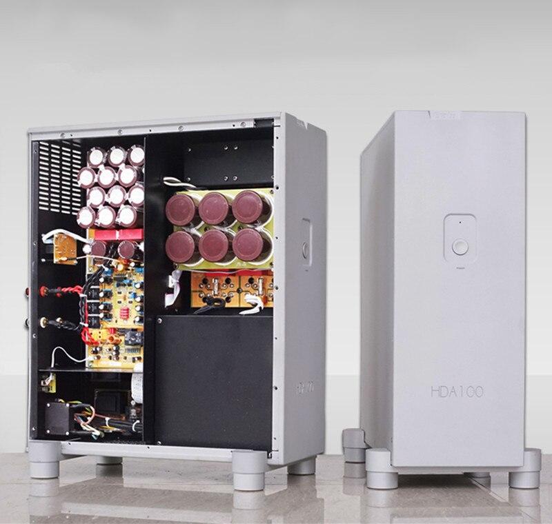 N-008 HDA100 HiFI моно усилитель мощности амортизатор дизайн вертикальной версии 1000 Вт * 2