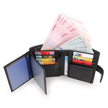 JMD Real Cow Leather Short Wallet Mens Credit Card Holder Billfolds Purse 8129A