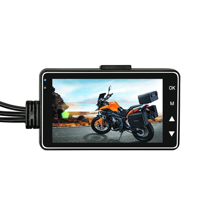 Новая мотоциклетная камера DVR Motor Dash Cam со специальным двойным треком спереди видеорегистратор с камерой на задней панели мотоцикл Электрон...