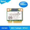 Atheros dw1901 802.1a/b/g/n 300 m bluetooth wireless mini pci-e card 300 mbps wifi + bluetooth 4.0 dois-em-um cartão wlan para dell