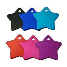 Set Aluminum ID Tags in Shape Star for Cat