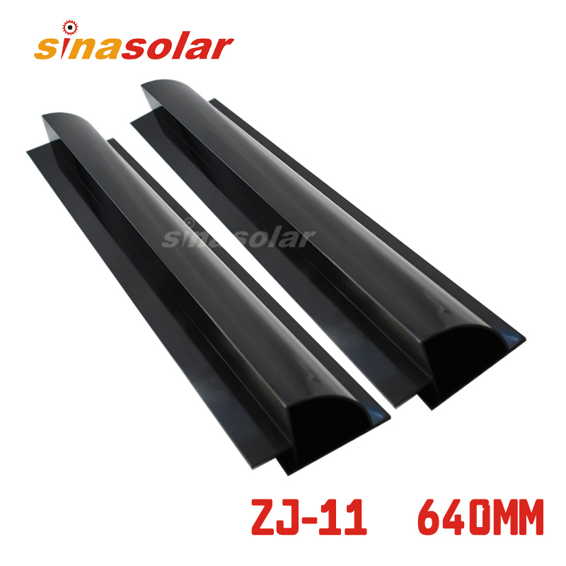 Black Color Aluminium 640mm Side Solar Panel Mount Bracket Spoiler For Caravan Motorhome RV 100w folding solar panel solar battery charger for car boat caravan golf cart