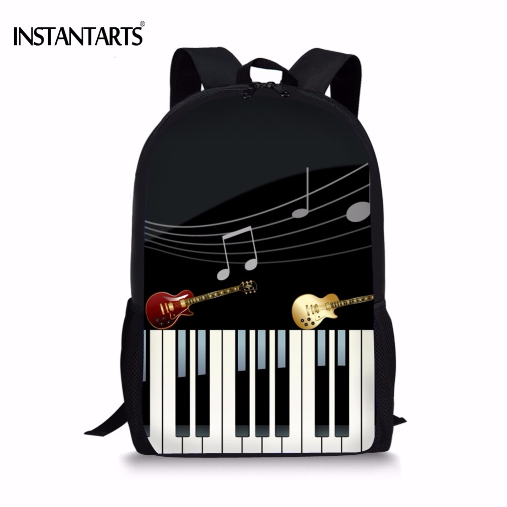 INSTANTARTS Fashion Piano Keyboard Print Boys Girls School Bags Casual Lap top Middle School Students Bookbag Children Schoolbag|School Bags|   - title=