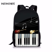 INSTANTARTS Fashion Piano Keyboard Print Boys Girls School Bags Casual Lap-top Middle School Students Bookbag Children Schoolbag(China)