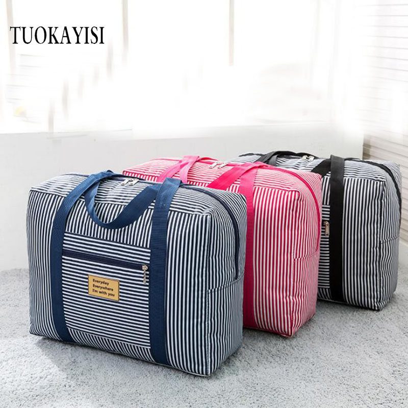 Waterproof Nylon Pouch Folding Travel Bags Men Women large Luggag Duffle  Bag Carry on Hand Luggage Backpack space Packing Cubes 310611f635b06