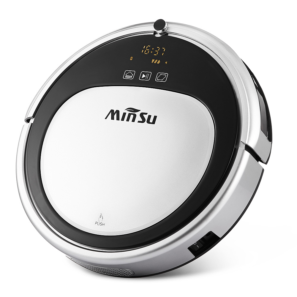 MinSu Cordless Smart Robotic Vacuum Cleaner For Home Remote Control Floor Cleaning Robot Self-Recharging 1800pa Strong Suction multifunctional intelligent robotic vacuum cleaner for home big suction nozzle remote control planned cleaning route fr e