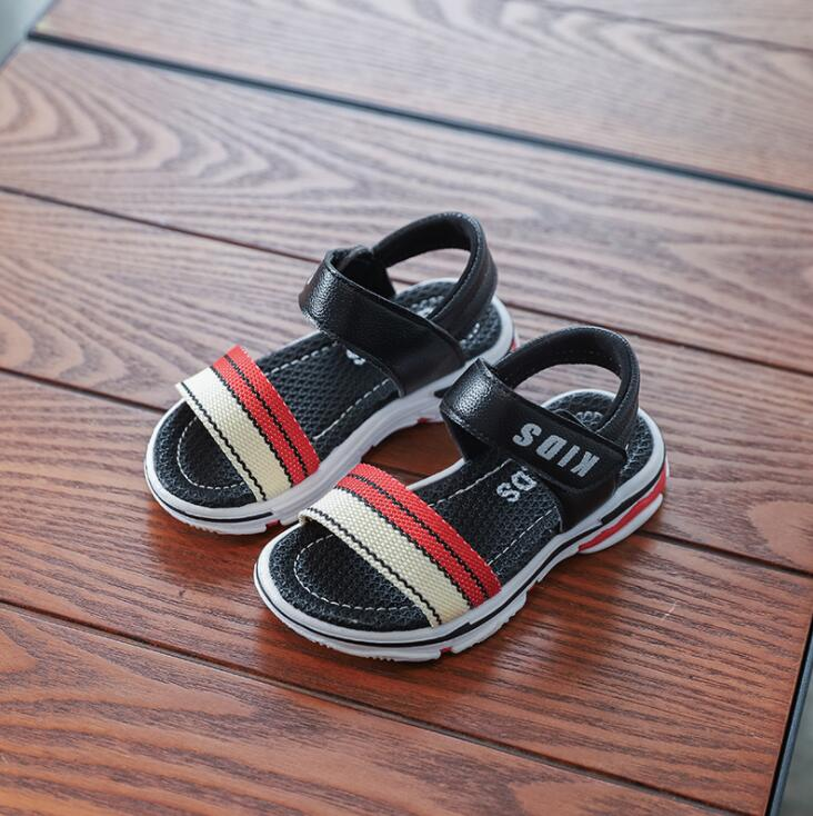 New Summer Designs Kids Shoes Boys Soft Fashion Leather Children Beach Sandals High Quality Baby Boys Shoes Flats