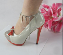 Free Shipping Style L28 Fashion Jewelry Shoe Chain Foot Chains Small Rivets Ankle Chain 2 colors