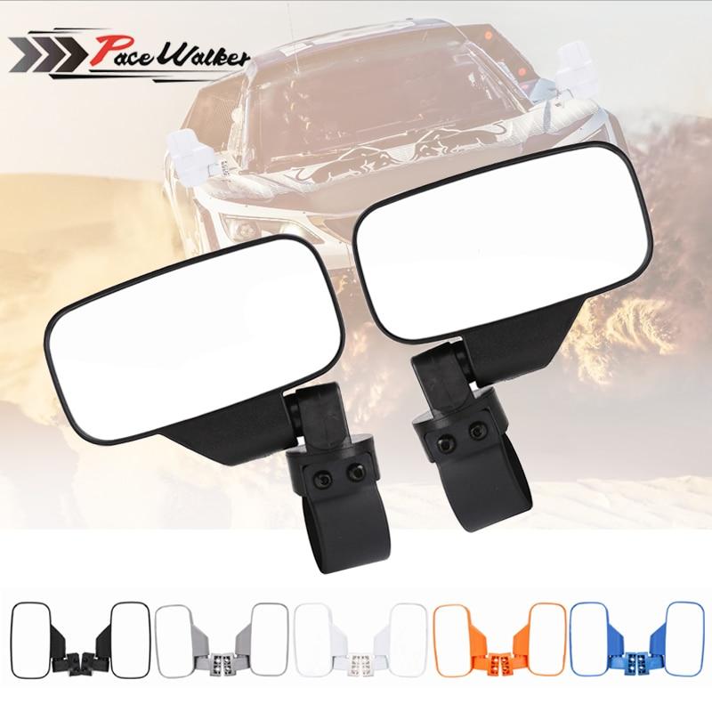 "MICTUNING Polaris UTV  RZR Side View Mirror High impact mirror For 1.75/""-2/"" Car"