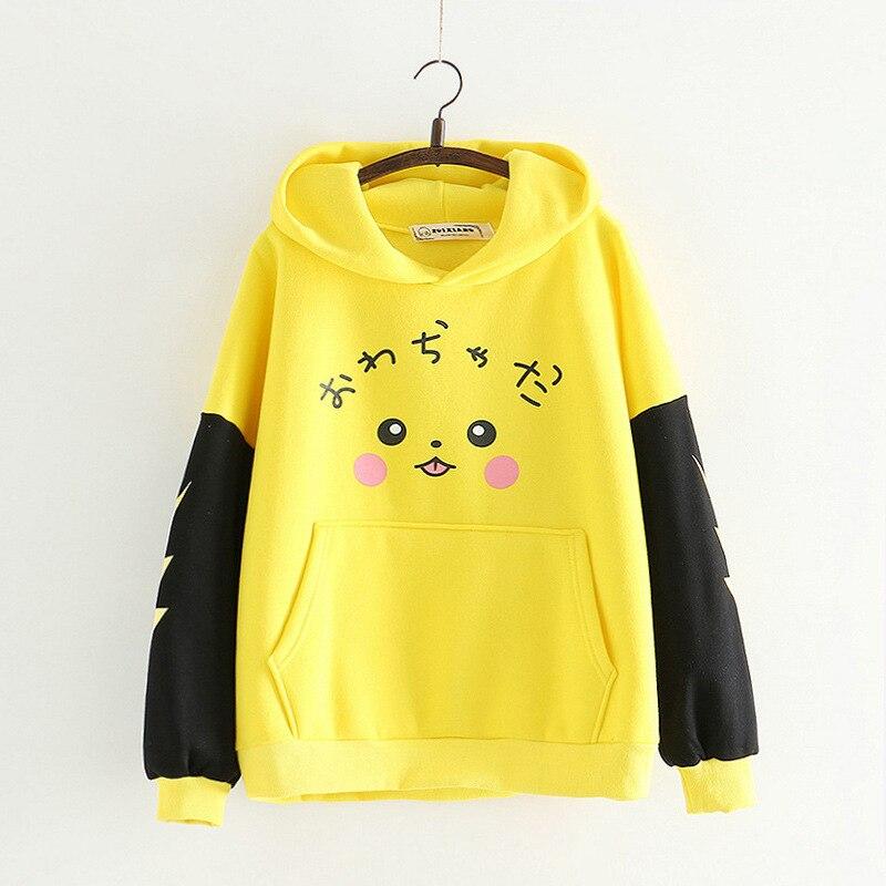 WXCTEAM Anime  Pocket Monster Hoodie Harajuku Unisex Men Women Cartoon 3d Sweatshirts Pullovers Pikachu Cap Top Jumper
