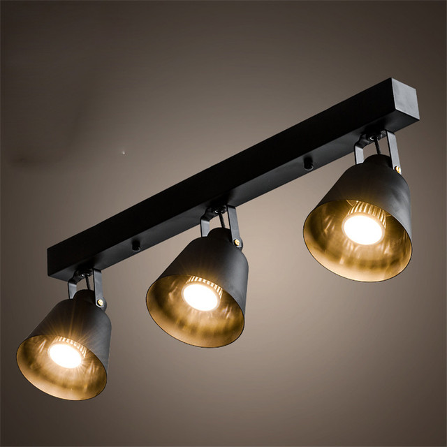 Modern Vintage Lamp Iron Led Ceiling Lights For Clothing Store  Cafe,Creative Plafoniera Led Ceiling