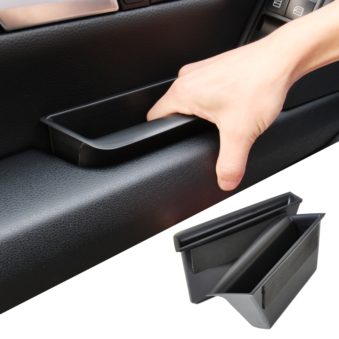 CITALL  Front Door Armrest Storage Box Container Phone Holder For Mercedes Benz C Class W204 2008 2009 2010 2011 2012 2013