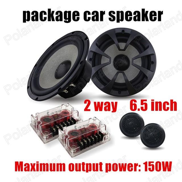 Envío de la alta qualty 6.5 pulgadas altavoz audio car paquete de altavoces de 2 vías 2X150 W altavoces estéreo de su automóvil