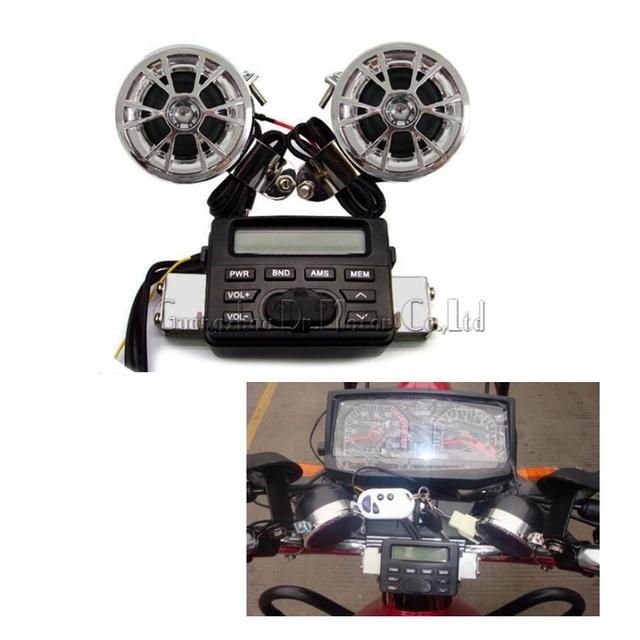 Hot vendas De Áudio Rádio FM MP3 iPod Estéreo Alto-falantes Do Sistema De Som Para A Motocicleta Moto Scooter
