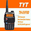 DHL freeshipping+TYT TH-UVF8D Digital Intercom Interphone 2 Way 136-174MHz/400-520MHz Radio Dual Band Walkie Talkie Transceiver