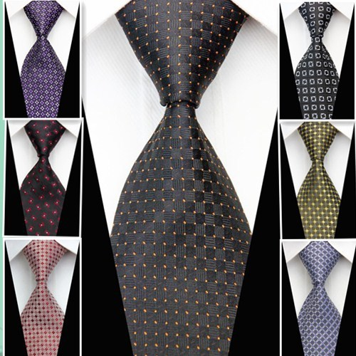 d7d723142b929 2015 New Fashionable Mens Tie Dots Knitted Woven Luxury Classic Business  Wedding Ties For Men Neckties Brown Blue Red Purple