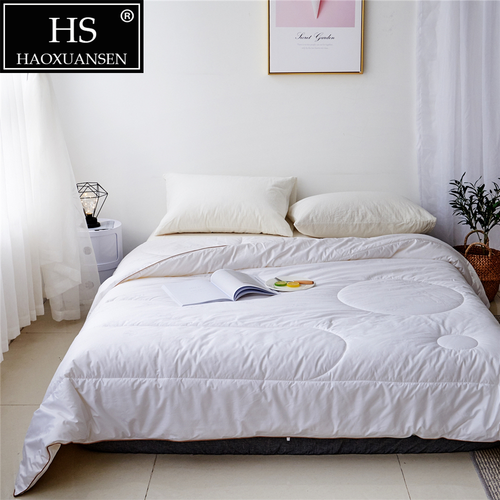 HS 3 ~ 4 kg couette en laine d'hiver de luxe épaissir couture couette/couette/couverture roi reine taille double blanc rapide livraison gratuite