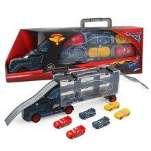 7 шт. disney Pixar тачки 3 Молния Маккуин Джексон шторм Мак дядюшка грузовик 1:55 литья под давлением модель подарок на день рождения игрушка для мальчика
