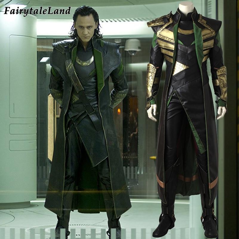 Loki Cosplay Costume Adult cosplay Avengers Halloween Costume Thor The Dark World Loki Costume Fancy cosplay suit Custom made