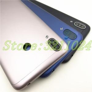 Image 3 - Originele Voor Asus Zenfone Max M2 ZB633KL Back Battery Cover Met side key + Camera Glas Lens Rear Batterij Deur behuizing + Logo