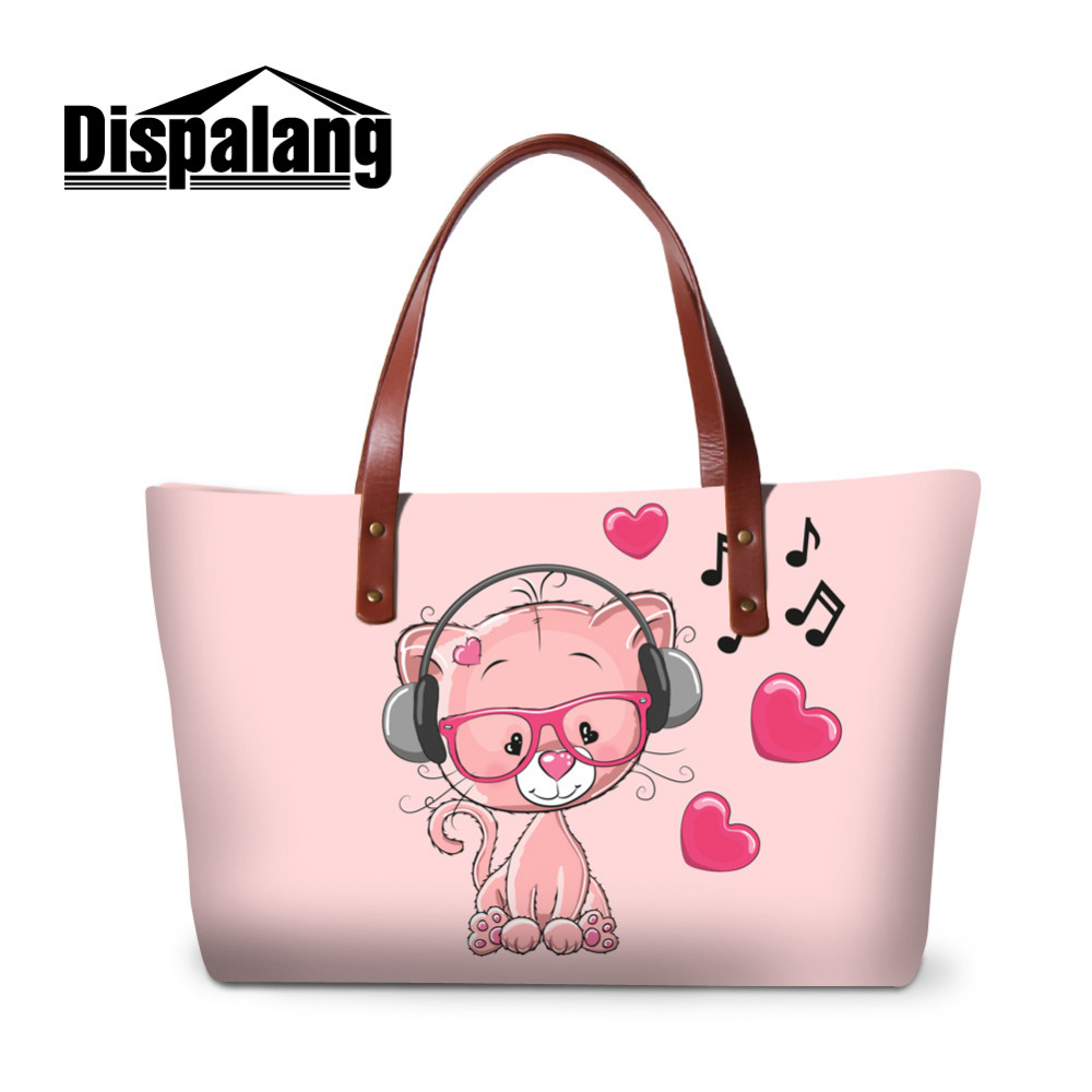 Dispalang Shoulder Bags Cartoon Bear Women Handbag Female Top-handle Bags Girls Cute Crossbody Bag Functional Messenger tote new woman shoulder bags cute canvas women big bags literature and art cartoon girls small fresh bags casual tote