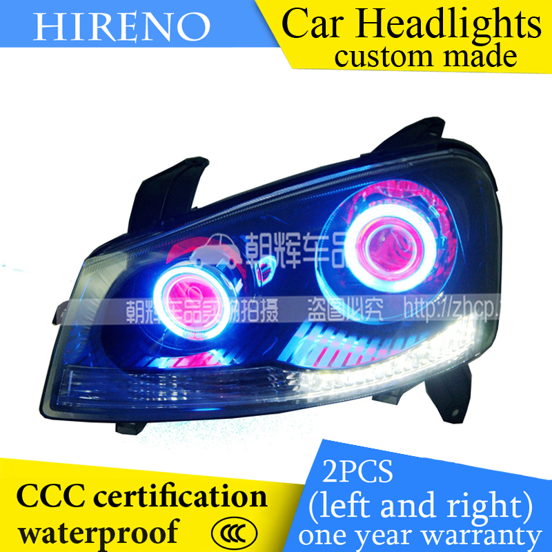 Hireno custom Modified Headlamp for Great Wall Wingle Headlight Assembly Car styling Angel Lens Beam HID Xenon 2 pcs