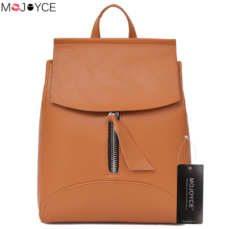 все цены на PU Leather Women Backpack Waterproof Teenage Girls Backpacks Female School Shoulder Bag Ladies Travel Bags bolso mochila mujer онлайн
