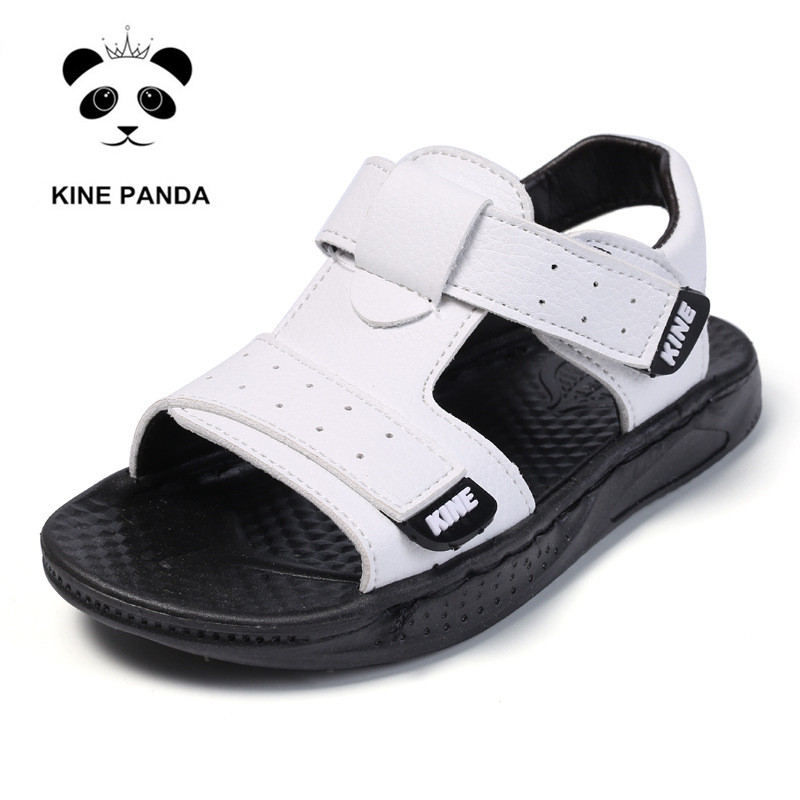 KINE PANDA Boys Sandals Little Kids Kindergarten Shoes Summer Toddler Baby Boy PU Leather Children Shoes 1 2 3 4 5 6 Years Old