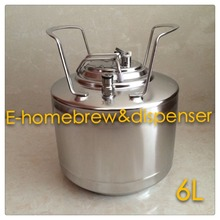 Brand New Stainless Steel 304 Ball Lock Cornelius style Beer OB Keg 6L , Closure Lid with Pressure Relief Valve