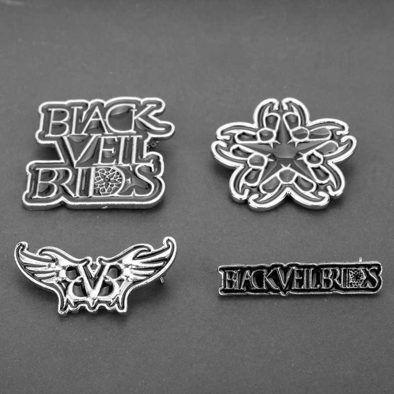 MQCHUN Rock Band Bros Black Veil Brides BVB Musik Rock Logo Bros Enamel Pin Bros Lencana Bros untuk Wanita Pria Gift-40