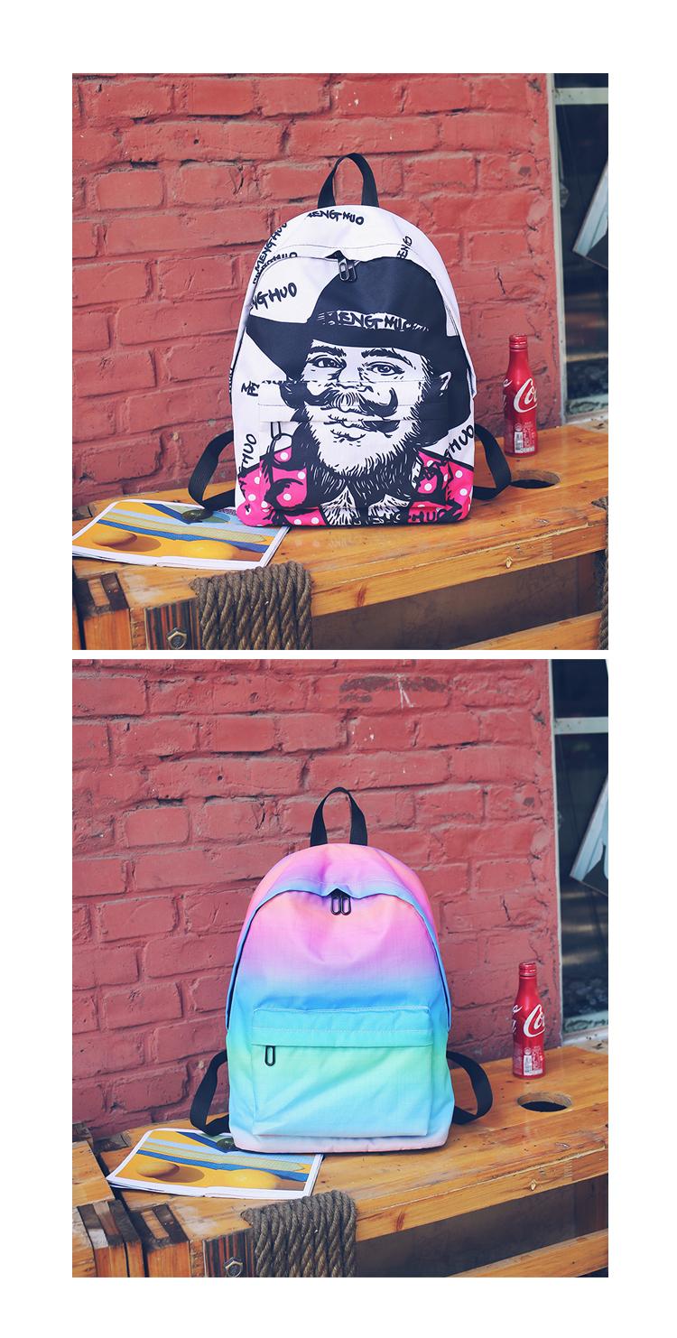 df9e9905bcde Menghuo Newest Women Backpacks 3D Printing Backpack Female Trendy Designer  School Bags Teenagers Girls Men Travel