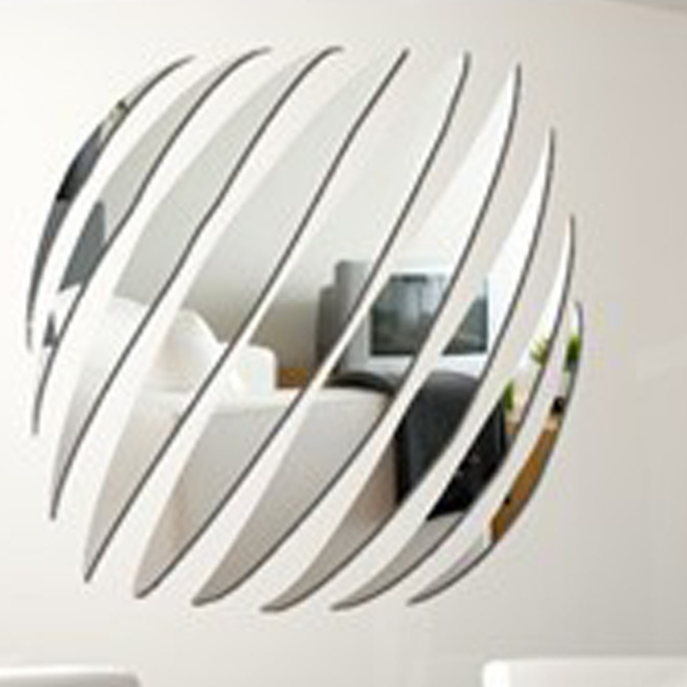 new arrvial large decorative wall mirrors home decoration decor modern design mirror stickers free shipping