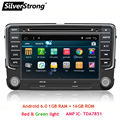 Free Shipping Android6.0+1G+16G VW Car DVD for Passat GOLF5 B6 B5 B7 Jetta MK5 MK6 POLO Radio GPS For Volkswagen Android 6.0 702