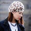 7 Цвета Leopard Текстуры Для Взрослых Случайный Береты для Женщин Подлинная Кролика Меховая Шапка Мода Одежда Аксессуары