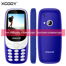 "Vkworld Z3310 2G GSM Elder Phone Russian Keyboard 2.4"" 3D 1450mAh Loud Speaker FM LED Light 2MP Dual SIM Card Cheap Cell Phones"