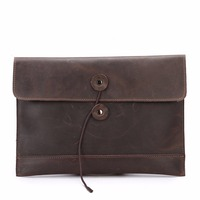 Luxury Brand Design Men Vintage Handbags Envelope Style Day Clutches Business Bags 100 Genuine Cow Leather