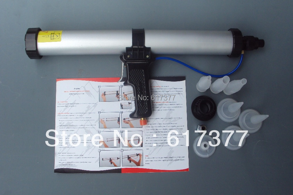 High Quality 15 Inches 600ml Sausage Air Caulking Gun/Air Power Caulking Gun/Airflow Caulk Gun/Air Caulk Applicator/Air Tools