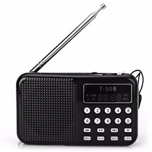 Hot sale LCD Display Internet Radio Digital fm radio Micro SD/TF USB Disk mp3 radio with speaker T508