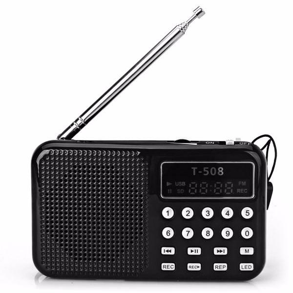 REDAMIGO Hot sale LCD Display Internet Radio Digital fm radio Micro SD/TF USB Disk mp3 radio with speaker T508R