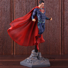 DC Superman Figura STUDI di Justice League Action Figure di Superman Super-Uomo di FERRO PVC Da Collezione Model Toy(China)