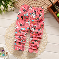 BibiCola  spring childern cartoon plus velvet pants Korean baby boys girls leggings children warm cotton pants kids trousers