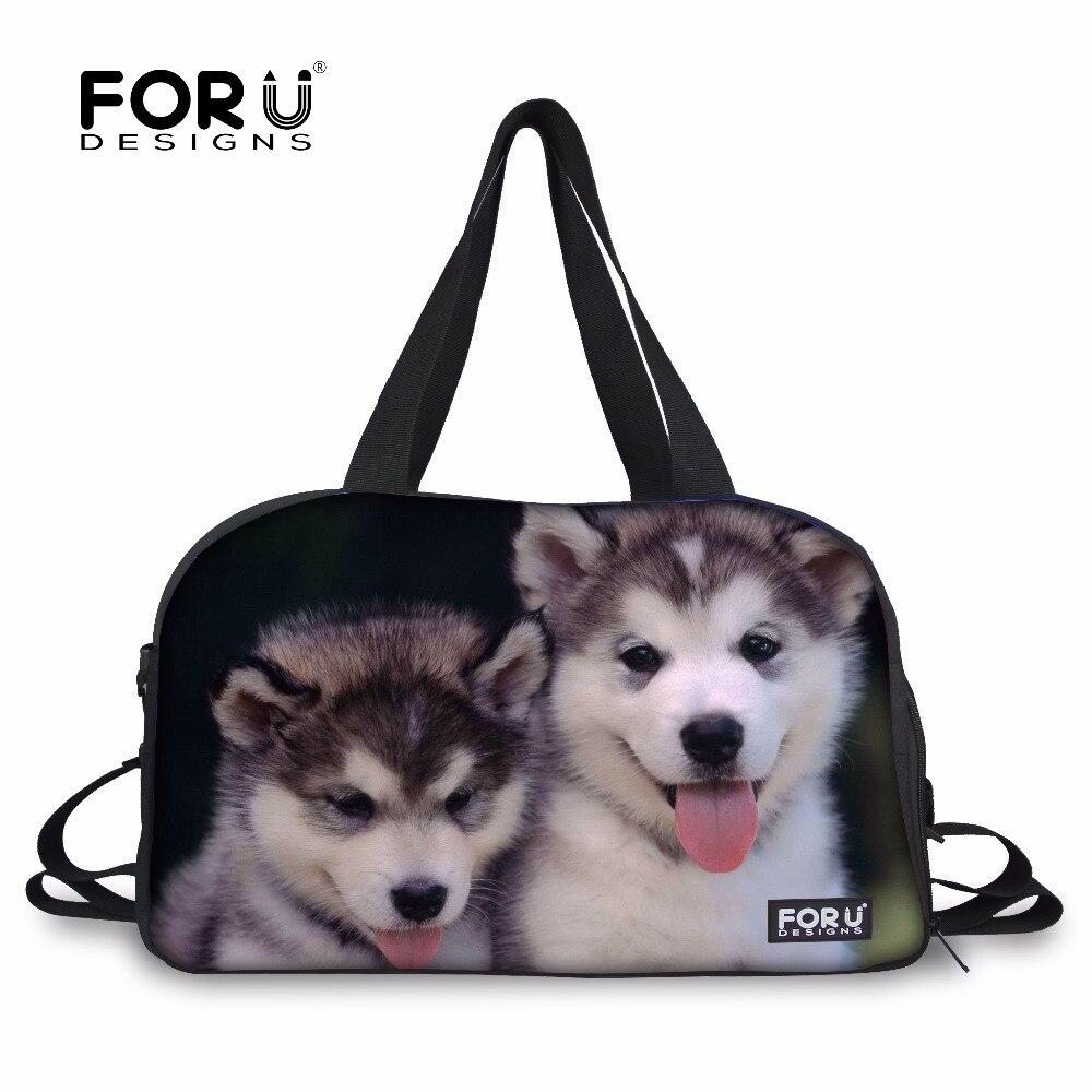 FORUDESIGNS Sports Bag Gym Team Training Bags Japanese Akita Dog Printing Waterproof Yoga Mat Shoulder Bag Large Tote Travle Bag