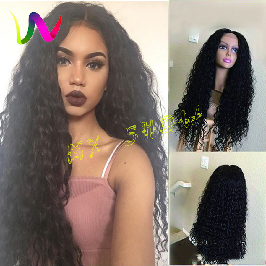 Natural Looking Synthetic Wigs Afro American Wigs