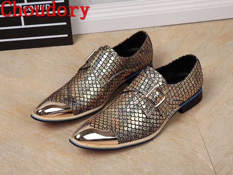 Здесь продается  Choudory Luxury Brand Shinny Glitter Mens leather Loafers For Party Wedding Classic British Style men gold dress shoes size 12  Обувь