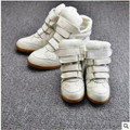Child genuine leather  high-top shoes male female child casual  sports shoes parent-child breathable boots