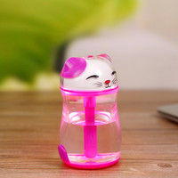 2017 New Product Mini Cartoon Edition Lucky Cat Silent USB Humidifier Luminous Colorful Office For Fresh