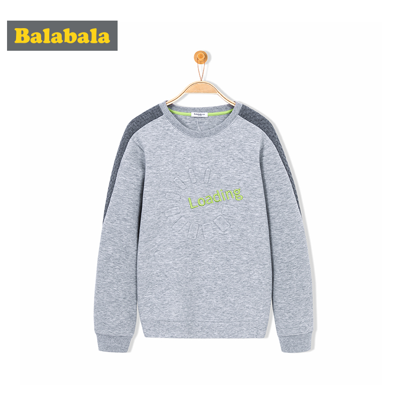 balabala autumn casual boys sport hoodies casual cotton solid o neck tshirt for children three colors clothes baby kids clothing